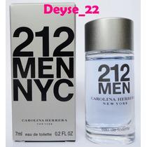 Perfume Miniatura 212 Men Carolina Herrera Masculino 7 Ml