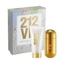 Perfume Feminino Original + Body Lotion 212 Vip Ch + Brinde!