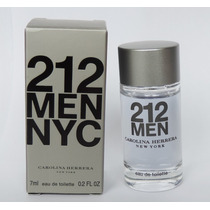 Perfume Miniatura 212 Men Carolina Herrera Masculino 7 Ml