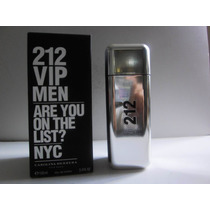 Perfume 212 Vip Men 100 Ml - Original E Lacrado