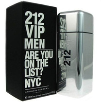 Perfume 212 Vip Men Carolina Herrera 100ml Pronta Entrega