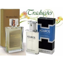 Perfumes Traduções Gold - Fragrâncias Kouros - 100 Ml