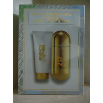 Kit 212 Vip Feminino Edp 80 Ml + Body Lotion 100 Ml