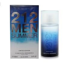 Perfume Masculino Carolina Herrera 212 Men Summer Original