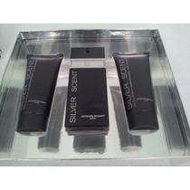 Kit Perfume Silver Scent 100ml Edt + Balm 100ml + Gel 100ml!