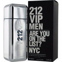 Perfume 212 Vip Men Carolina Herrera 100ml Original Lacrado