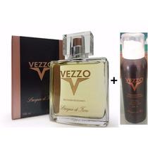 Vezzo 100ml Perfume + Desodorante Jato Seco 125 Lacqua Fiori
