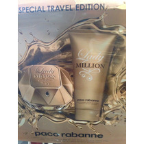 Kit Lady Million 80ml+ Creme Hidrat 100ml Lacrado Original