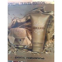 Kit Lady Million 80ml+ Creme Hidrat 100ml Lacrado Original