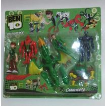 Kit Ben 10 6 Peças Alien Force Omniverse