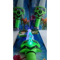 Espada Sonora Ben 10 Som E Luz Alien Force + 3 Mini Bonecos