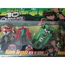 Conjunto 03 Aliens Ben 10 + Super Carro Pronta Entrega