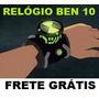 Ben10 Ben Dez Relogio Omnitrix Com Hora Luz E Sons Frete Fre