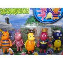 05 Bonecos Backyardigans De 10 Cm Bolo Festa Aniversario
