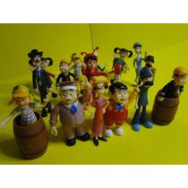 16 Bonecos Coleção Turma Do Chaves Jaiminho Barriga Chapolim