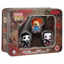 Funko Pocket Pop! Horror Collector Tin (ghostface, Chucky, B