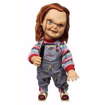 Brinquedo Assassino Chucky Mezco 38cm Com Som Boneco Lacrado