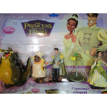 05 Bonecos Princesa Tiane Disney Principe Sapo Princess Frog