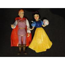 01 Par Bonecos Princesa Branca De Neve E Principe 10 Cm