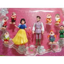 Novos 09 Bonecos Branca Neve 07 Anões E Principe Disney