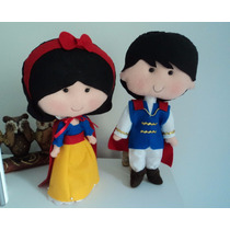 Boneca Princesa Branca De Neve Centro De Mesa Em Feltro