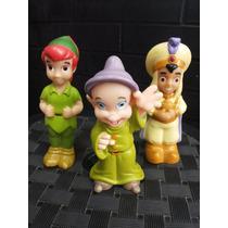 Disney Peter Pan + Dunga + Aladin Com 12cm - Lindos Em Pvc
