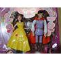 01 Par Bonecos Disney Princesa Bella E O Principe Com 10 Cm
