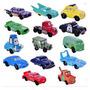 Coleção 14 Miniaturas Cars Disney Carros Mcqueen Filme Truck