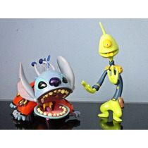 Boneco Stitch E Agente Pleakley Disney Desenho Lilo & Stitch