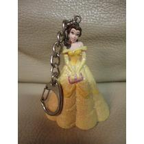 Chaveiro Disney Princesa Bela E Fera Brilhos Miniatura