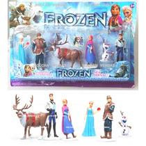 Kit 6 Bonecos Frozen Congelados Disney Em Pvc Pronta Entrega