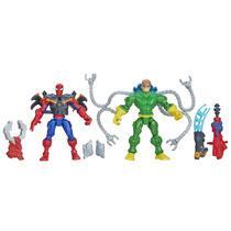 Pack Com 2 Superhero Mashers Homem Aranha E Dr. Octopus - Ha
