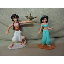 Lote Boneco Brinquedo Disney Aladin Jasmine Miniatura Mattel