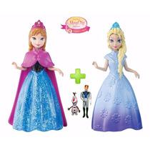 Kit Bonecas Magiclip Frozen Elsa Anna +olaf Sven Hans Disney