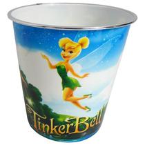 Lixeira Plástica Infantil Fadas Tinker Bell Balde Multiuso
