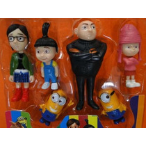 Kit Com 06 Bonecos Minions Meu Malvado Favorito 2 Despicable