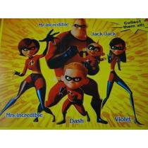 Show !!!!! Kit 05 Bonecos Os Incriveis Disney Com Som & Luz