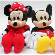 Mickey E Minnie De Pelúcia 30 Cm Kit C/2