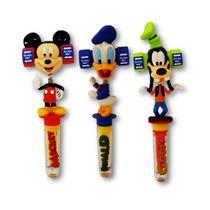 Kit 12 Canetas Com Personagens Mickey Pato Donald Pateta Som