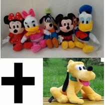 Kit 6 Bonecos Pelúcia Turma Do Mickey 6 Personagens