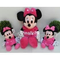 Disney Minie De Pelucia Rosa Kit C/3