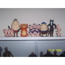 Lote Com 7 Bonecos Personagens Da Animação Gato De Botas