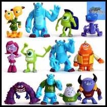 Kit 12 Bonecos Monstros S/a Sullivan Mike Disney Pixar #ctc