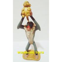 Coleção Rei Leão Disney Boneco Rafiki Segurando Simba 11 Cm