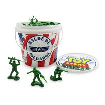 Balde Com 60 Soldados - Toy Story - 26762 - Toyng - Disney