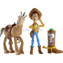 2 Bonecos Toy Story Woody E Bala No Alvo Disney - Original