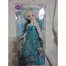 Frozen Elsa Boneca Original Disney Na Caixa No Brasil 30 Cm