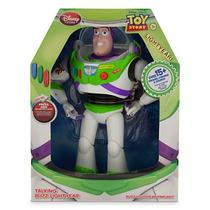 Buzz Lightyear Toy Story Boneco Fala 15 Frases 30cm Disney