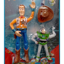 Kit 2 Bonecos Woody 25 Cm + Buzz Lightyear 12 Cm Toy Story