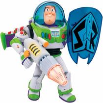 Buzz Lightyear Com Escudo Fala 20 Frases + Efeitos Luz Toyng
